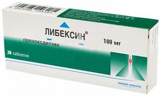 Либексин 100мг 20 шт. таблетки chinoin pharmaceutical and chemical work