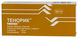 Тенорик 100мг+25мг 28 шт. таблетки покрытые пленочной оболочкой