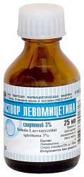 Левомицетин 3% 25мл раствор спиртовой