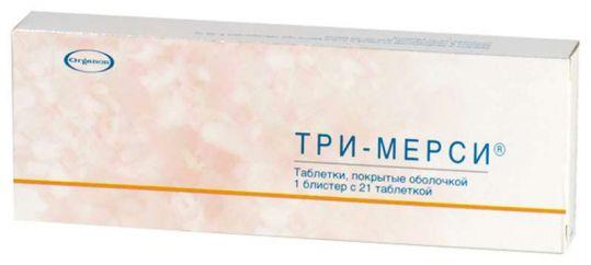 Три-мерси 21 шт. таблетки, фото №1
