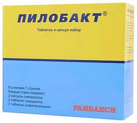 Пилобакт 7 шт. набор таблеток и капсул комбинированный