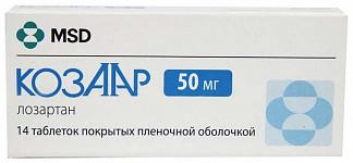 Козаар 50мг 14 шт. таблетки покрытые пленочной оболочкой