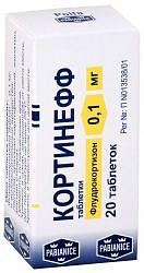 Кортинефф 100мкг 20 шт. таблетки