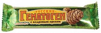 Гематоген русский с кедровым орехом 40г