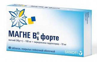 Магне в6 форте 40 шт. таблетки покрытые пленочной оболочкой