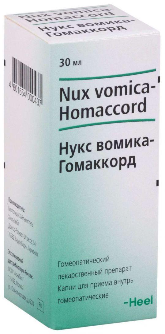 Нукс вомика-гомаккорд 30мл капли для приема внутрь biologische heilmittel heel gmbh, фото №1
