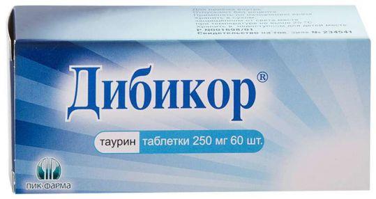 Дибикор 250мг 60 шт. таблетки пик-фарма, фото №1