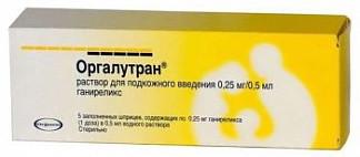 Оргалутран 0,25мг/0,5мл 1 шт. раствор для подкожного введения vetter pharma-fertigung