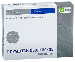 Пирацетам оболенское 800мг 30 шт. таблетки покрытые пленочной оболочкой