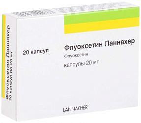 Флуоксетин ланнахер 20мг 20 шт. капсулы