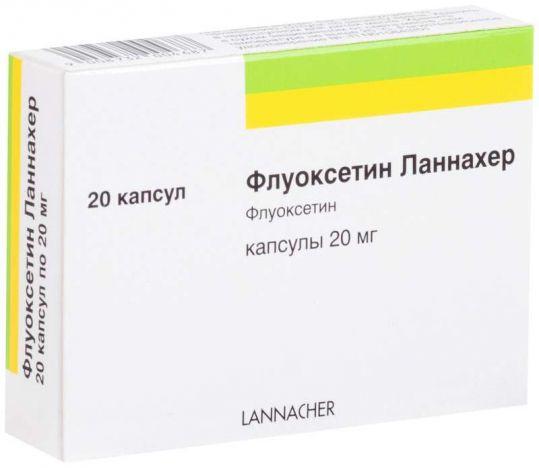 Флуоксетин ланнахер 20мг 20 шт. капсулы, фото №1