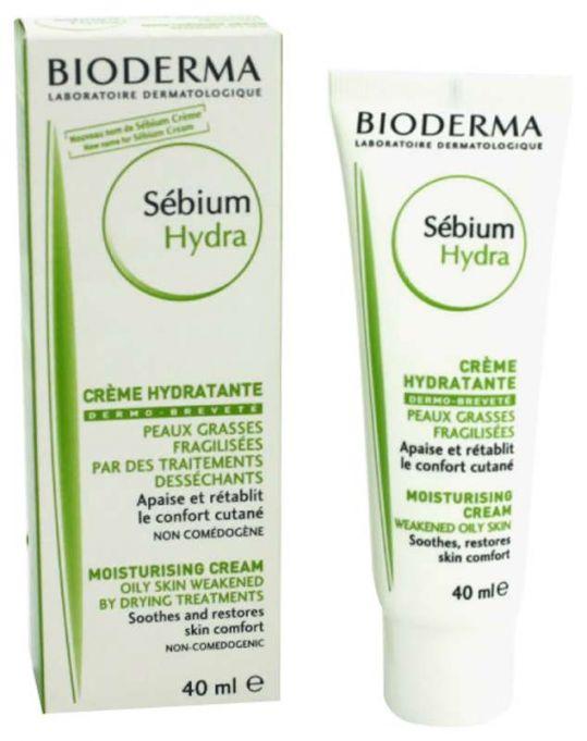 Биодерма себиум гидра крем увлажняющий для жирной/хрупкой кожи 40мл, фото №1