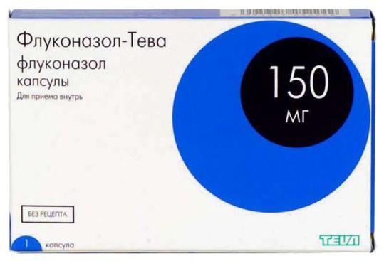 Флуконазол-тева 150мг 1 шт. капсулы, фото №1