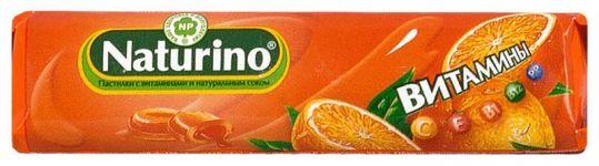 Натурино с витаминами и натуральным соком пастилки апельсин 36,4г, фото №1