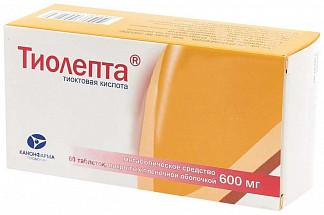 Тиолепта 600мг 60 шт. таблетки покрытые пленочной оболочкой