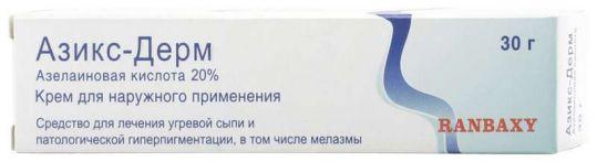 Азикс дерм 20% 30г крем для наружного применения, фото №1