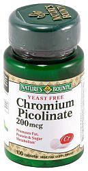 Нэйчес баунти таблетки хрома пиколинат бездрожжевой 100 шт.