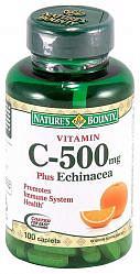 Нэйчес баунти таблетки витамин с + эхинацея 100 шт.