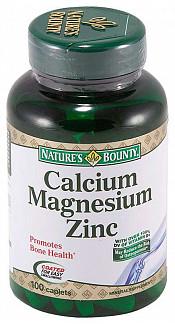 Нэйчес баунти таблетки кальций магний цинк 100 шт.