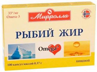 Мирролла рыбий жир капсулы пищевой 0,37г 100 шт.