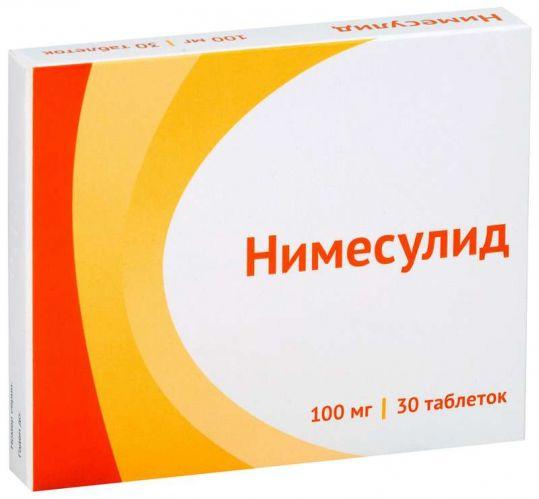 Нимесулид 100мг 30 шт. таблетки, фото №1