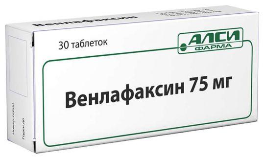 Венлафаксин 75мг 30 шт. таблетки, фото №1