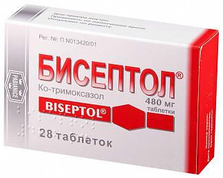 Бисептол 480мг 28 шт. таблетки