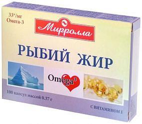 Мирролла рыбий жир капсулы с витамином е 100 шт.