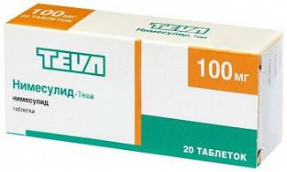 Нимесулид-тева 100мг 20 шт. таблетки