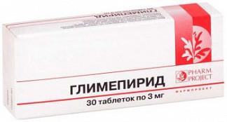 Глимепирид 3мг n30 таб.