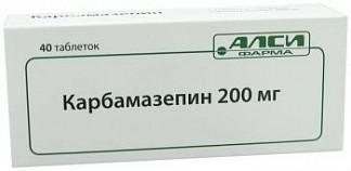 Карбамазепин 200мг 40 шт. таблетки