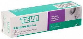 Клотримазол-тева 1% 30г крем для наружного применения