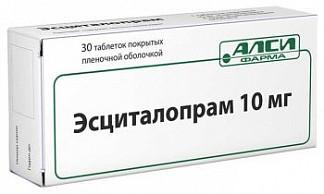Эсциталопрам 10мг 30 шт. таблетки покрытые пленочной оболочкой