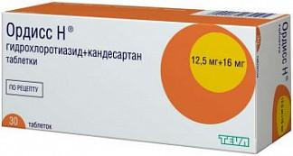 Ордисс-н 16мг+12,5мг 30 шт. таблетки