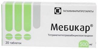 Мебикар 500мг 20 шт. таблетки татхимфарм