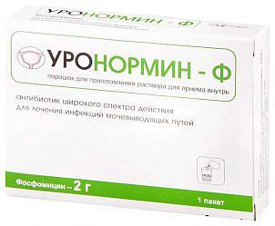 Уронормин-ф 2г 1 шт. порошок для приготовления раствора для приема внутрь
