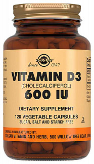 Солгар витамин д3 капсулы 600ме 120 шт.