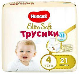 Хаггис элит софт трусики-подгузники 4 (9-14кг) 21 шт.