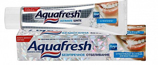 Аквафреш зубная паста отбеливающая 50мл
