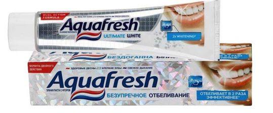 Аквафреш зубная паста отбеливающая 50мл, фото №1