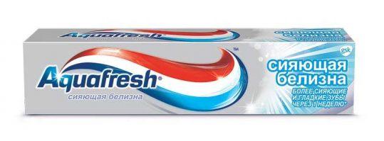 Аквафреш сияющая белизна зубная паста 100мл, фото №1