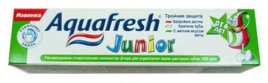 Аквафреш юниор зубная паста от 6 лет 50мл де мицлен а.с., фото №1