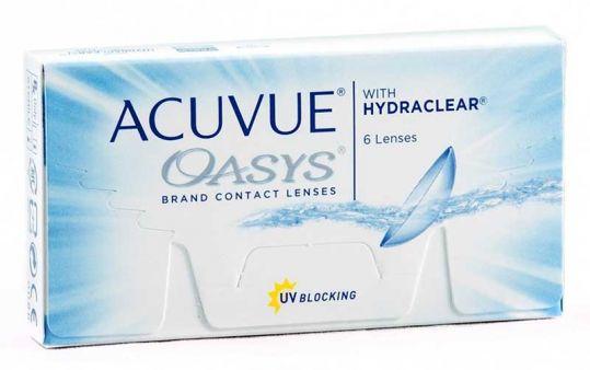 Акувью оазис линзы контактные r8.4 -2,25 6 шт. джонсон & джонсон, фото №1