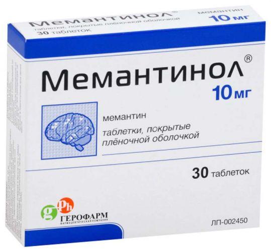 Мемантинол 10мг 30 шт. таблетки покрытые пленочной оболочкой, фото №1
