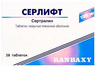 Серлифт 100мг 28 шт. таблетки покрытые пленочной оболочкой