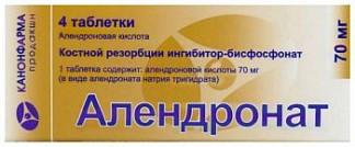Алендронат цена в аптеках москвы