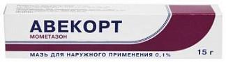 Авекорт 0,1% 15г мазь для наружного применения