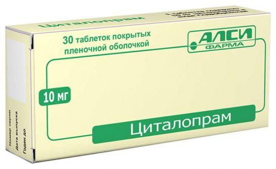 Циталопрам 10мг 30 шт. таблетки покрытые пленочной оболочкой, фото №1