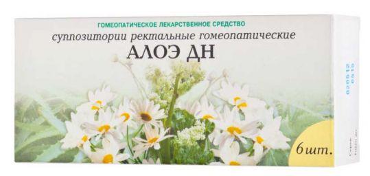 Алоэ дн 6 шт. суппозитории ректальные гомеопатические, фото №1