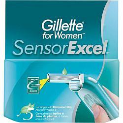 Жиллет сенсор иксель кассеты для женщин 5 шт.